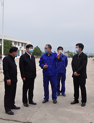 Baise city's weekly resolution mayor is inspecting and guiding work safety in the company