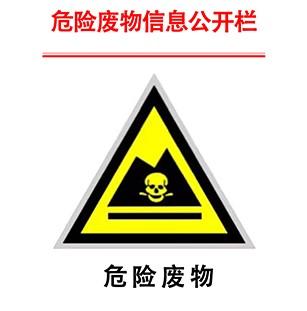 危险废物污染防治责任信息公开栏
